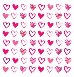 love heart drawn brush design seamless pattern vector image vector image