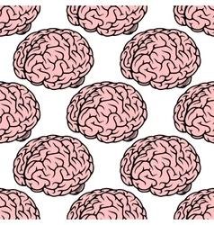 Pink human brain seamless pattern vector image