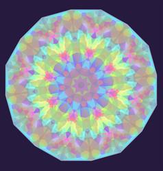Round iridescent geometric background vector