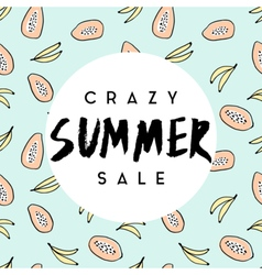 Summer sale poster design vector