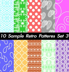 10 Retro Patterns Textures Set 3 vector