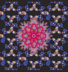 abstract decorative ethnic mandala sketchy vector image