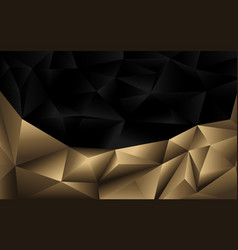 Abstract two tone black and gold polygonal vector