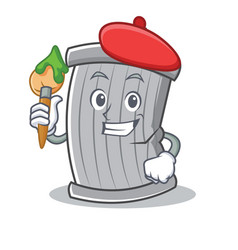 artist trash character cartoon style vector image