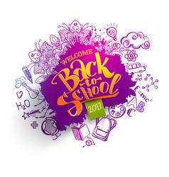 back to school sale splash backdrop vector image
