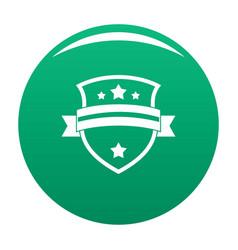 badge knight icon green vector image