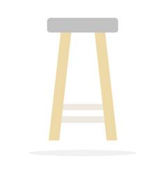 bar high chair flat isolated vector image