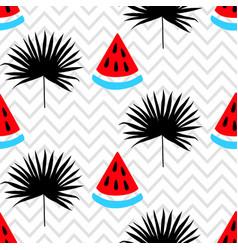 Beautiful seamless pattern on zig zag background vector