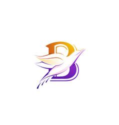Bird letter b icon vector