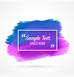 blue purple watercolor stain background with text vector image
