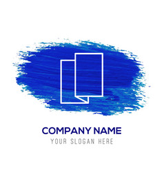 Brochure flyer icon - blue watercolor background vector