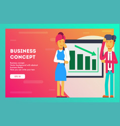businessmen try to solve the problem vector image