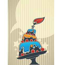 cake card for your text vector image