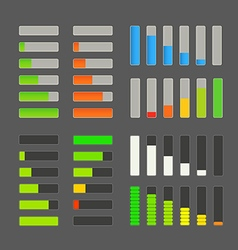 Charge bar collection Application design elements vector