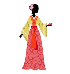 Chinese girl vector image vector image