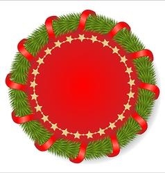 Christmas round vector