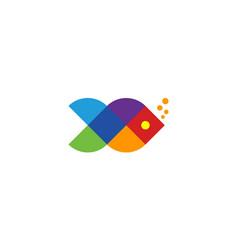 Colorful fish logo design concept vector