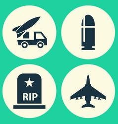 Combat icons set collection slug rip vector