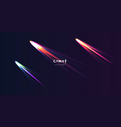 comet in dark space neon splash wallpaper vector image