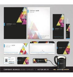 Corporate identity business set design vector image vector image