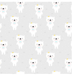 cute seamless pattern for kids with cartoon vector image