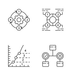 diagram concepts linear icons set decision vector image