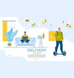 dinner order online home delivery landing page vector image