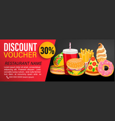 discount gift voucher with 30 percent price off vector image