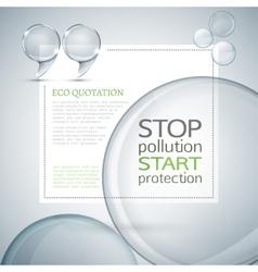 Eco quote vector image