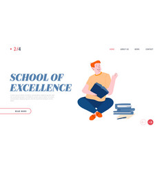 education and gaining knowledge website landing vector image
