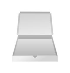 Empty white small box realistic vector image