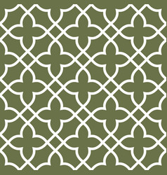 figured seamless grating pattern - arabesque vector image vector image