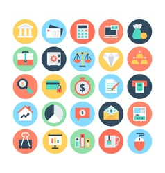 Finance Flat Icons 1 vector image