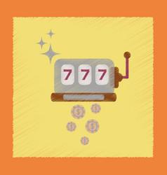 Flat shading style icon slot machine winnings vector