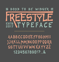 font freestyle craft vector image