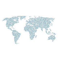 Global map mosaic of logout icons vector