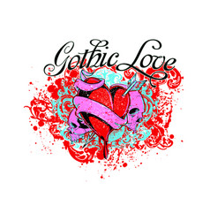 gothic love vector image