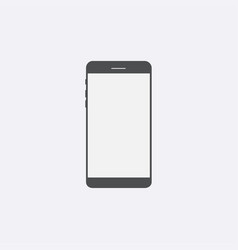 gray smartphone icon with isolated blank screen m vector image