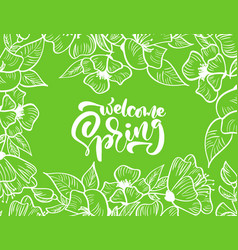 green floral frame for greeting card with vector image