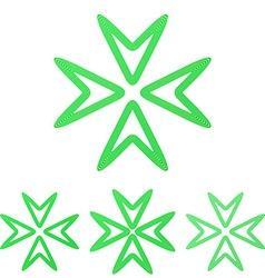 Green line media logo design set vector