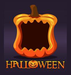 Halloween pumpkin frame avatar blank template vector