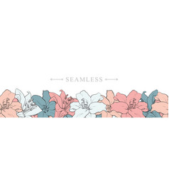hand drawn sketch blossoms decoration for fabric vector image