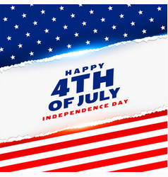 happy fourth july american independence day vector image