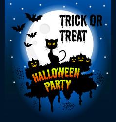 happy halloween poster halloween banner vector image