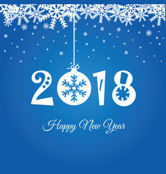 happy new year 2018 in blue vector image