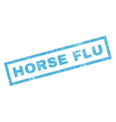 Horse Flu Rubber Stamp vector