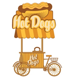Hot dog on wheels vector