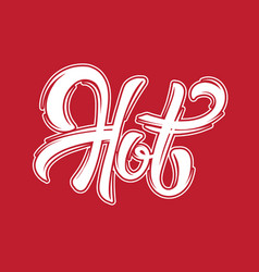 hot handwritten lettering template for card vector image