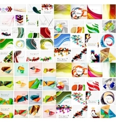 Huge mega collection of abstract geometric paper vector