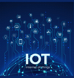 Internet things iot icons concept global vector